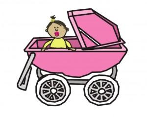 baby-girl-in-stroller