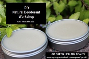 DIY deodorant workshop