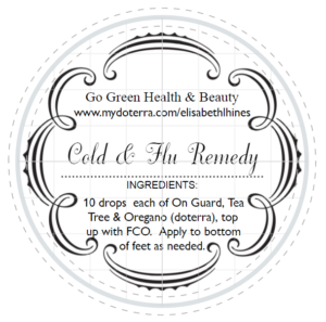 Cold & Flu 1 Label