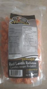 Red lentil noodles